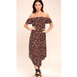 Amuse Society floral off shoulder dress